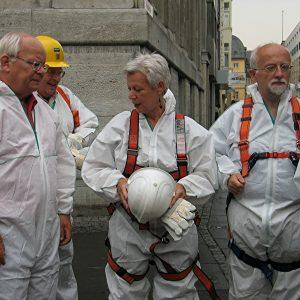 von links nach rechts: Gerd Heidemann, Erika  Coché und MdL von Grünberg