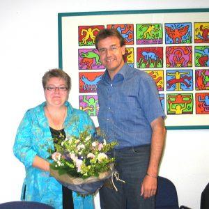 Anke Nipkow-Stille und der Vorsitzende der SPD-Fraktion im Rat der Stadt Bonn