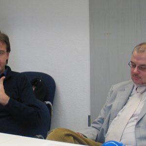 Wilfried Klein; Vorsitzender der SPD-Fraktion im Rat der Stadt Bonn und Martin Schilling, wirtschaftspolitischer Sprecher der SPD-Fraktion