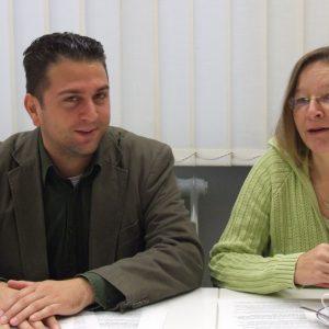 Gieslint Grenz , schulpolitische Sprecherin und Ernesto Harder, kinder- und jugendpolitischer Sprecher der SPD-Ratsfraktion