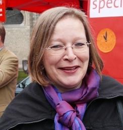 Gieslint Grenz, schulpolitische Sprecherin der SPD-Fraktion im Rat der Stadt Bonn