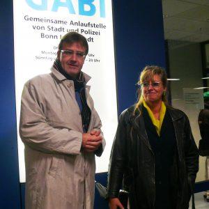 Wilfried Klein und Uschi Salzburger beim Besuch der GABI