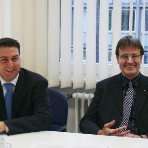 Ernesto Harder, Vorsitzender der SPD Bonn,  und Wilfried Klein, Vorsitzender der SPD-Fraktion im Rat der Stadt Bonn