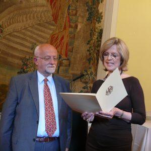 Bernhard von Grünberg mit Oberbürgermeisterin Dieckmann