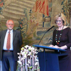 Bernhard von Grünberg und Oberbürgermeisterin Bärbel Dieckmann