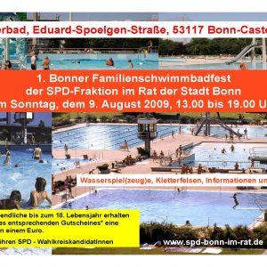 Einladung zum Schwimmbadfest